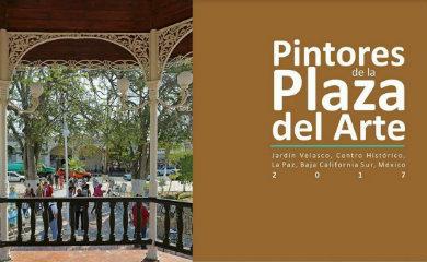 """En puerta """"Pintores de la Plaza del Arte"""""""