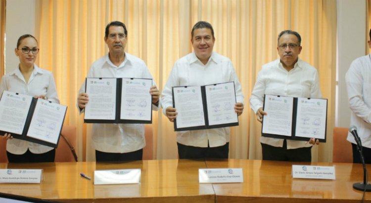 Firman convenio de colaboración UABCS y SDEMARN