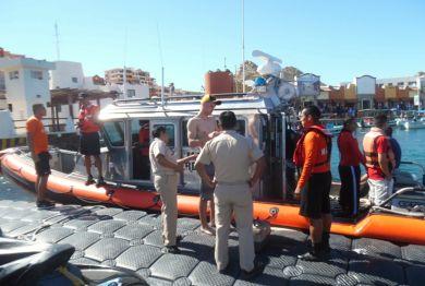 Rescataron a tres personas cerca de Isla Cerralvo