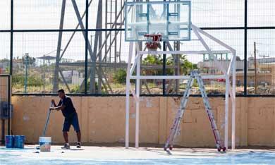 Con trabajo en equipo se rehabilitan espacios deportivos