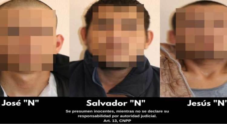 Detuvieron a tres sujetos en posesión de armas y droga