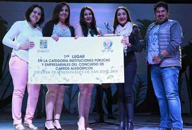 Premian a ganadores del desfile de carros alegóricos San José 2018