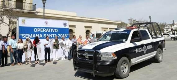 """Banderazo de inicio del operativo """"Semana Santa Segura"""""""