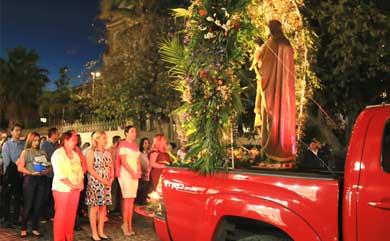 Realizan procesión en honor a San José
