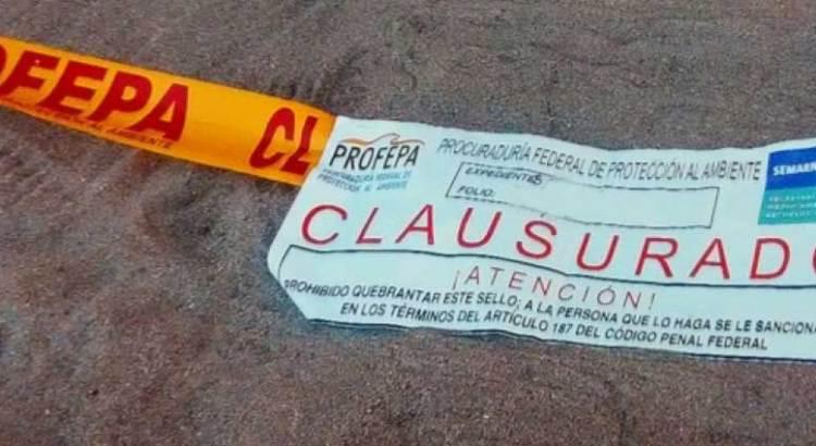 Clausuró Profepa acceso a la playa Ocho Cascadas
