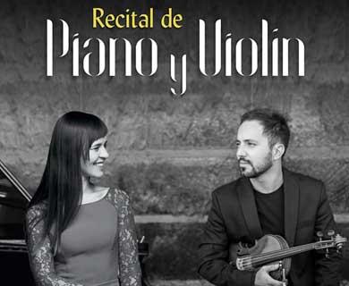 Recital de piano y violín en la SCON