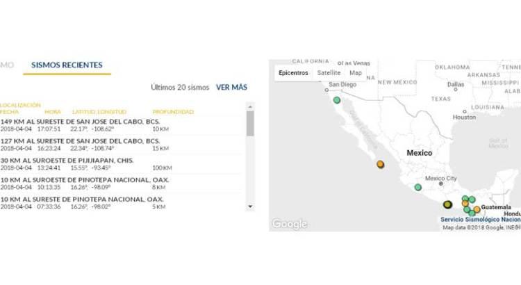 Registran dos sismos cerca de San José del Cabo