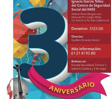 Invita la OSEA BCS  a su concierto de aniversario