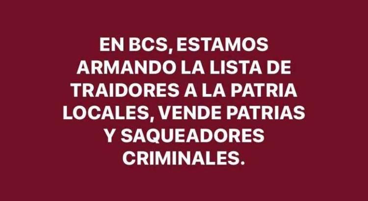 "Ya tiene candidata de Morena su ""lista negra"""