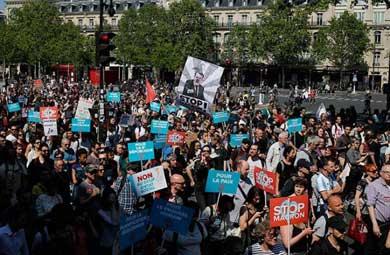 Protestan miles en Francia
