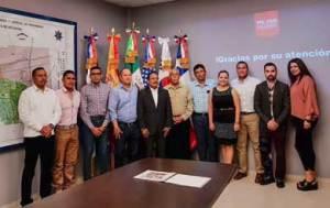 el 1er. regidor con funciones de presidente municipal, Jesús Gómez Montoya, realizaron una visita y un recorrido al municipio de Escobedo Nuevo León