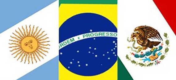 Argentina, Brasil y Colombia