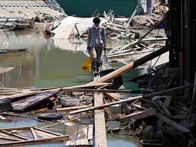 Sube a 122 el número de muertos por inundaciones en Japón