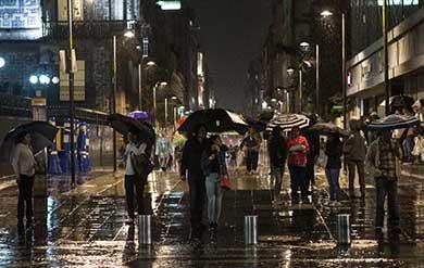 Se esperan tormentas intensas y muy fuertes en gran parte del país