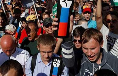 Más protestas en Rusia