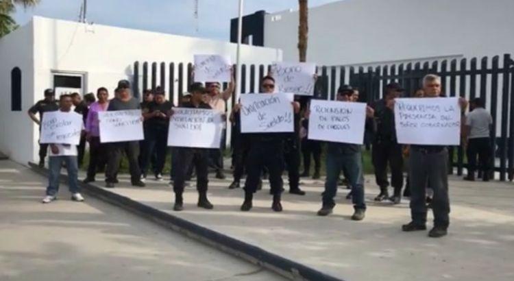 Se manifestaron custodios del Cereso paceño