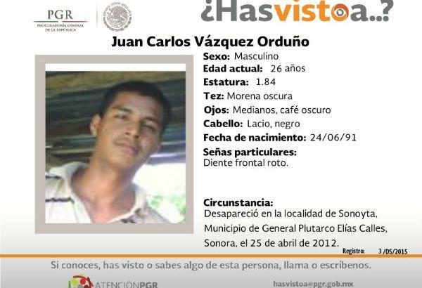 ¿Has visto a Juan  Carlos Vázquez?