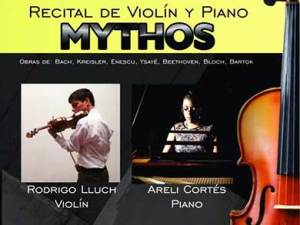 Rodrigo y Areli interpretarán obras de Bach, Kreisler, Enescu, Ysayë, Beethoven, Bloch y Bartok.