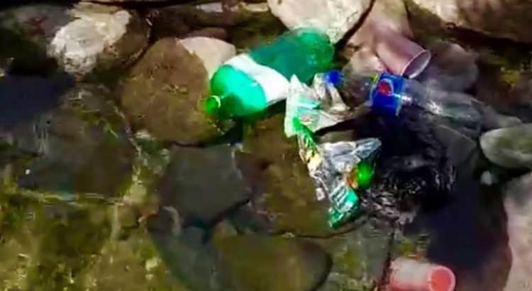 Tapizados de basura los caminos de la Sierra de la Laguna