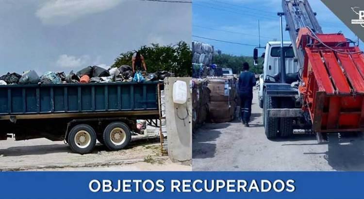Recuperan  ministeriales material de construcción robado