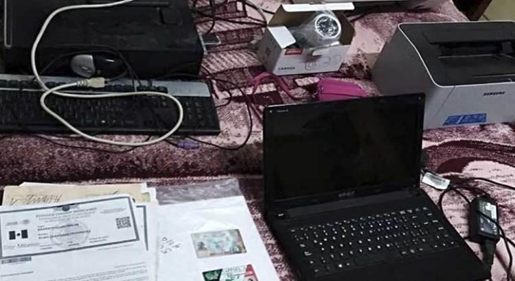 Desmantela la PGJE un centro de falsificación de documentos oficiales