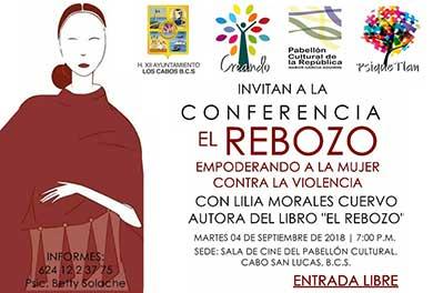 """Invitan a la Conferencia """"El Rebozo"""""""