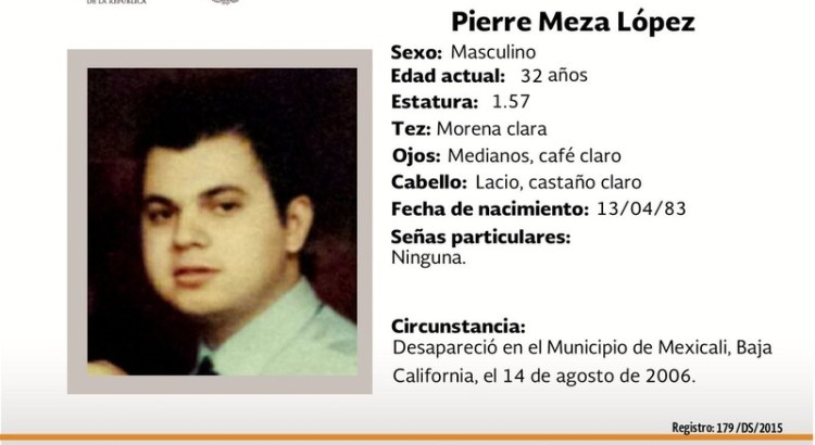 ¿Has visto a Pierre Meza López?