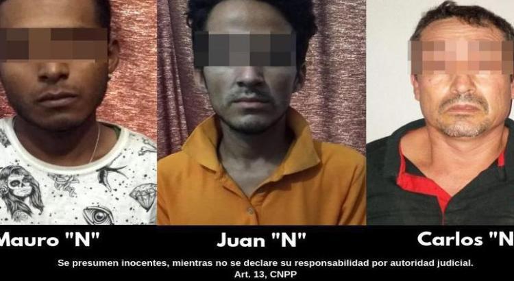 Detienen a tres sujetos con más de 1500 dosis de droga