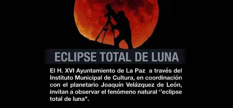 Invitan a ver el Eclipse lunar en Palacio Municipal