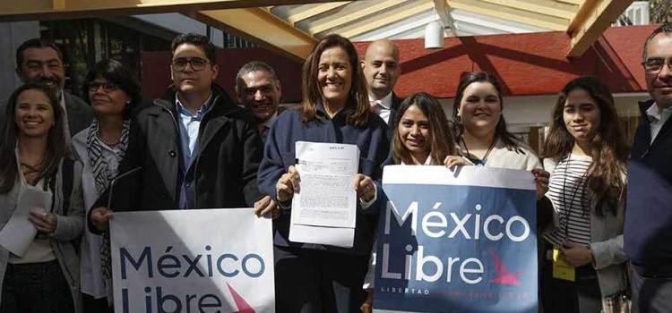 "Registra Margarita Zavala ""Libre"""