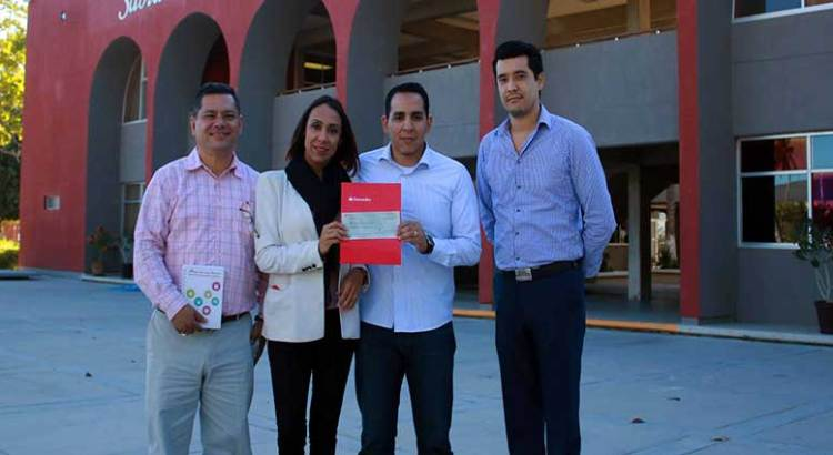 Impulsan UABCS y Santander la movilidad estudiantil