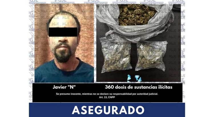 Con marihuana y cristal agarraron a Javier