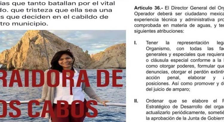 No cumple con el perfil necesario el nuevo titular de OOMSAPAS Los Cabos