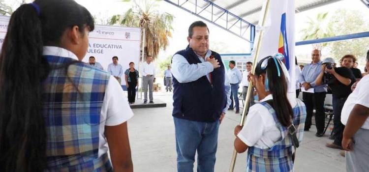 En BCS, las obras educativas llegan a todas las comunidades