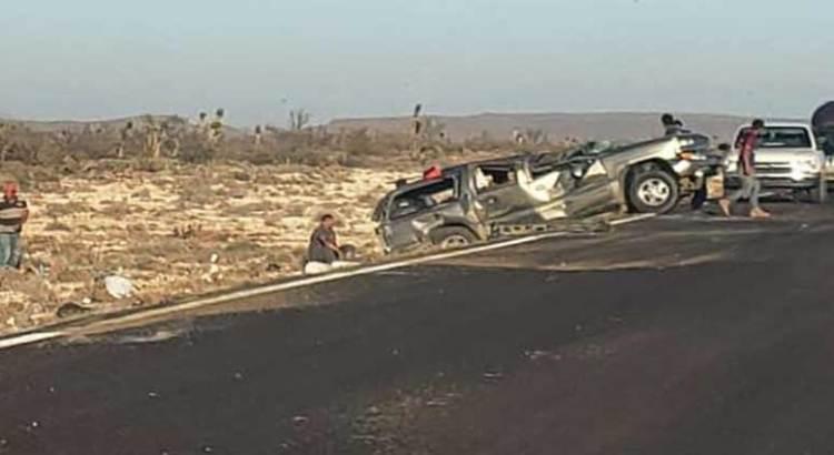 Aparatoso accidente carretero en Guerrero Negro