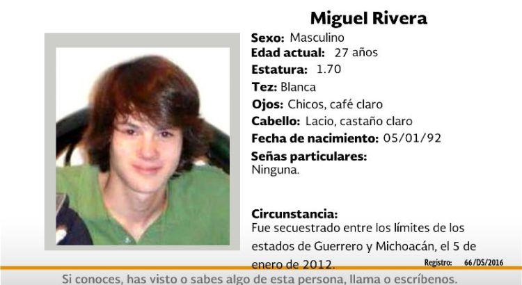 ¿Has visto a Miguel Rivera?