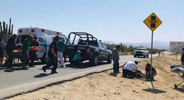Aparatoso accidente carretero rumbo a Los Planes