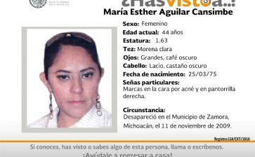 ¿Has visto a María Esther Aguilar?