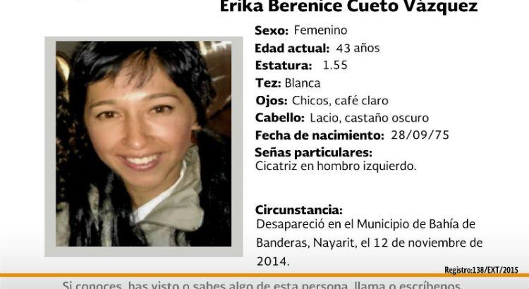 ¿Has visto a Erika Berenice Cueto Vázquez?