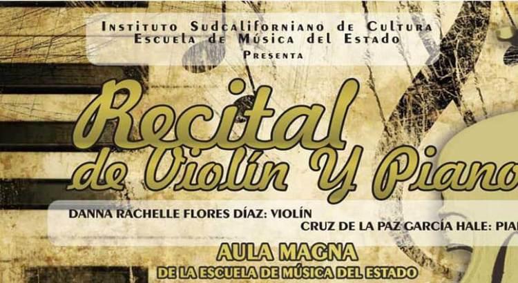 Invitan a recital de violín y piano