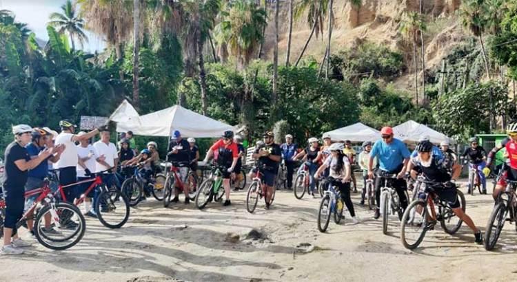 Exitoso paseo ciclista en San Bartolo