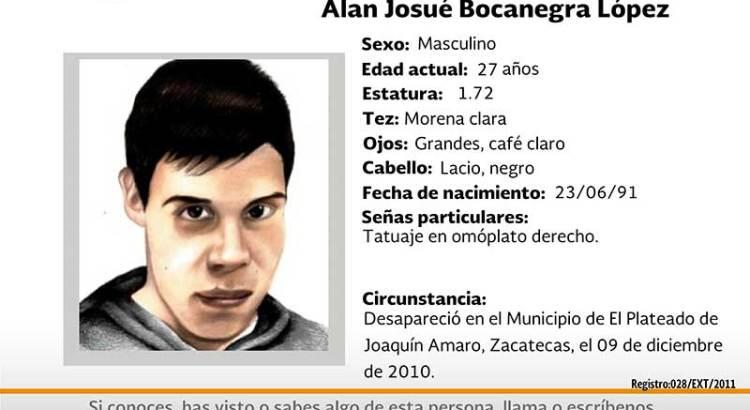 ¿Has visto a Alan Josué Bocanegra López?