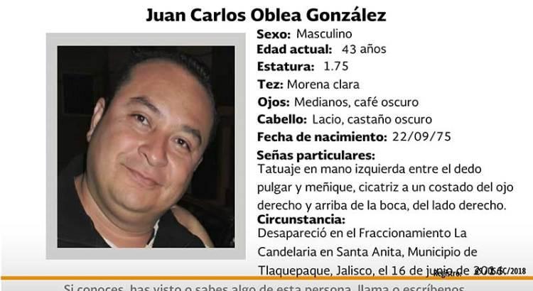 ¿Has visto a Juan Carlos Oblea González?