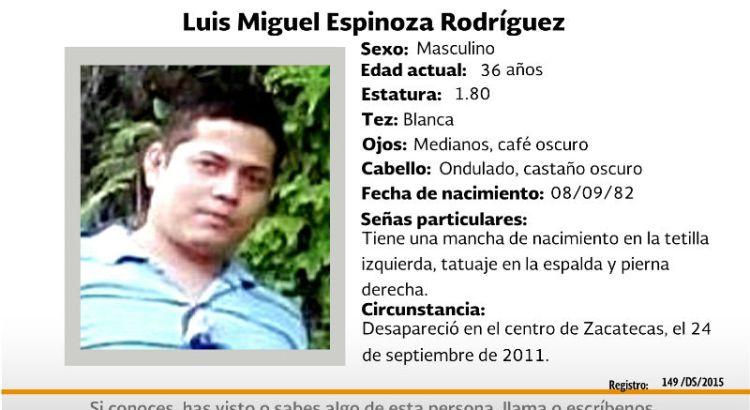 ¿Has visto a Luis Miguel Espinoza Rodríguez?