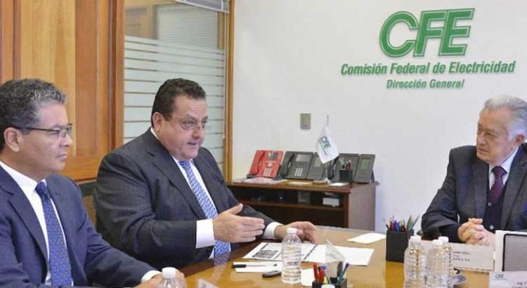 Se reunió el gobernador Mendoza con el titular de la CFE