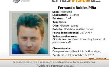 ¿Has visto a Fernando Robles Piña?