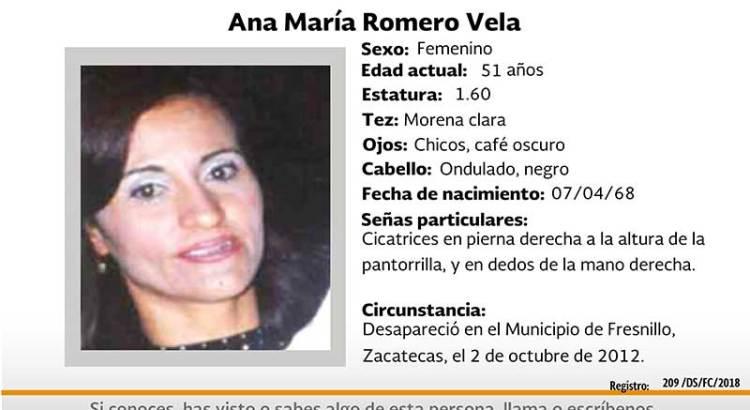 ¿Has visto a Ana María Romero Vela?