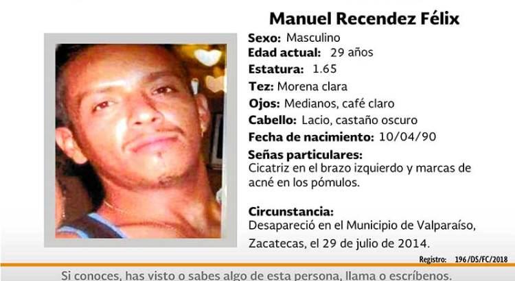 ¿Has visto a Manuel Recendez Félix?