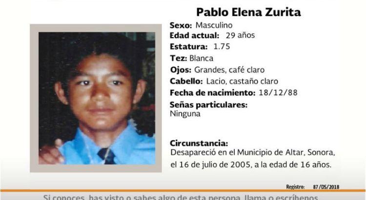 ¿Has visto a Pablo Elena Zurita?