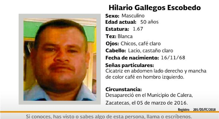 ¿Has visto a Hilario Gallegos Escobedo?
